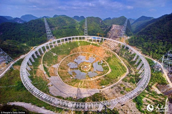 View larger. | Five hundred meter Aperture Spherical Telescope (FAST) in China.