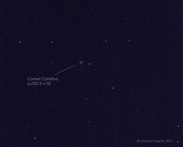 Comet Catalina on December 7 by Geraint Smith in New Mexico.