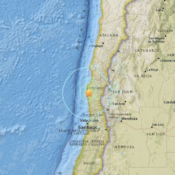 6.8-magnitude earthquake in Chile on November 7, 2015.