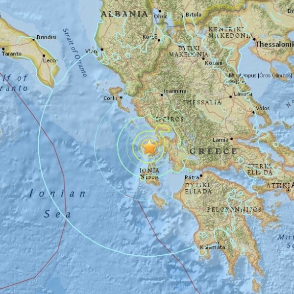 Earthquake in Greece, November 17, 2015.
