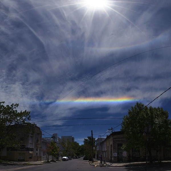 The lower part of a halo around the sun - and a piece of a circumhorizontal arc - from Sergio Emilio Montúfar Codoñer in La Plata, Argentina.