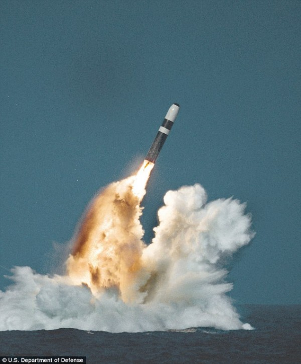 Here's your mystery light source: a test of a Trident SLBM from a US NAVY submarine off Point Magu, near Vandenberg AFB. Pictured is a Trident II (D-5) missile underwater launch. Gee ... I feel so much better.