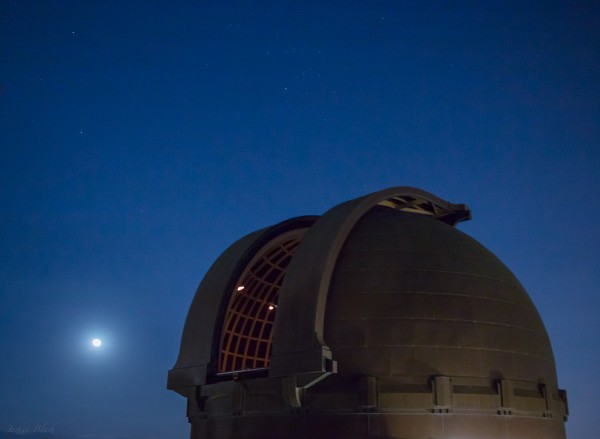 View larger. | Full moon and Griffith Observatory in Los Angeles.  Photo by Josh Blash.  See more of Josh's photography on Facebook.
