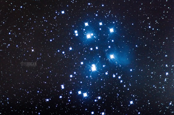 View larger. | EarthSky community member Greg Hogan captured this image of the Pleiades on November 11, 2015.