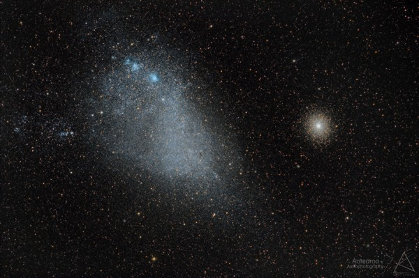 View larger. | Small Magellanic Cloud and 47 Tucanae by Jonathan Green and Amit Kamble. For more, visit Amit's Facebook page.
