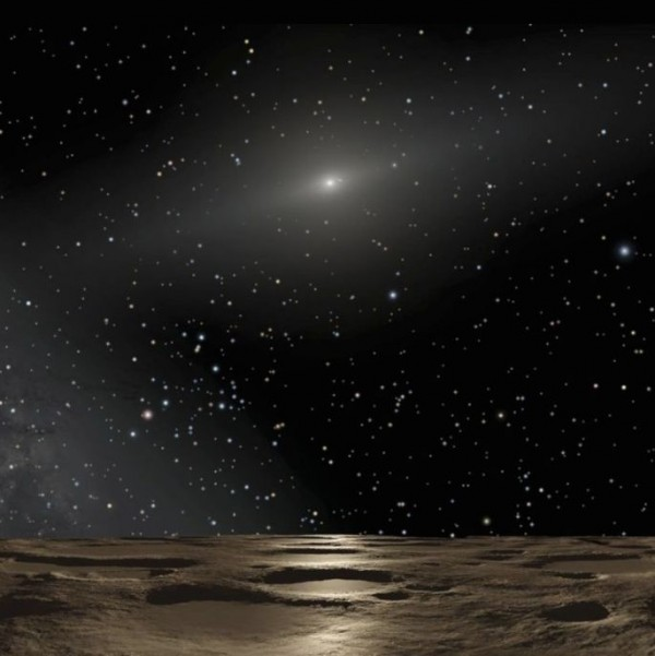 View larger. | Artist's concept of our sun as viewed from a very distant planet, via NASA / ESA / Adolf Schaller.