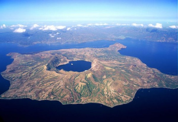 This image shows Volcano Island, located in the middle of the Taal caldera, formerly known as Lake Bombon or Lake Taal. Image credit: George Tapan