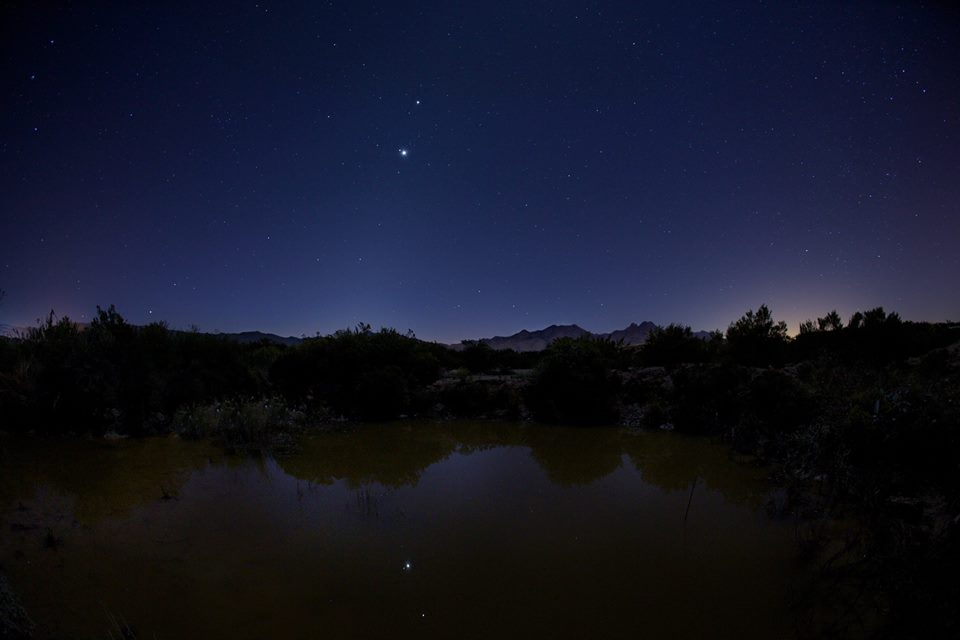 Planets reflecting in a pool - November 3, 2015 - by Steve Lacy.