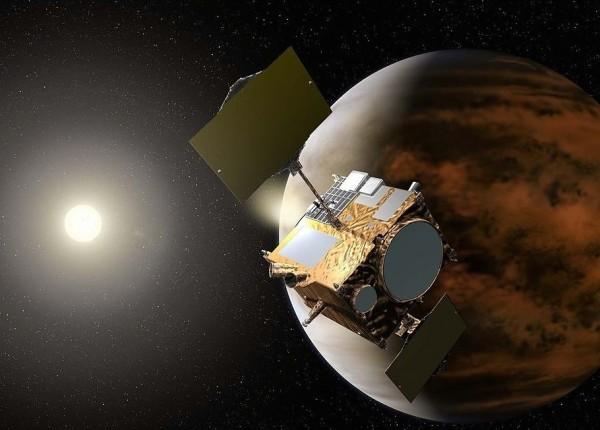 Artist's illustration of Akatsuki Venus spacecraft, via Akihiro Ikeshita (JAXA) / Wikipedia.