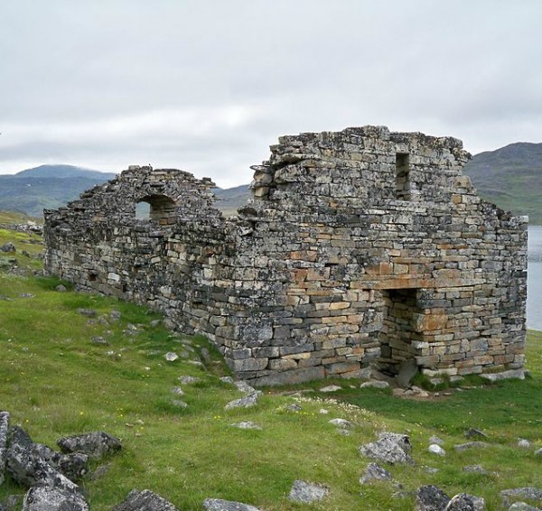 Vikings  colonized Greenland and possibly neighboring Baffin Island during what has been assumed to be—perhaps mistakenly--a temporary warm period. They disappeared in the 1400s. Southern Greenland's Hvalsey church is the best preserved Viking ruin. Image credit: Wikimedia Commons