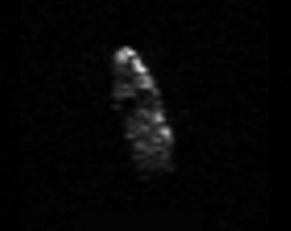 Radar image of asteroid 2003 SD220 acquired December 15, 2015 by Arecibo Observatory.