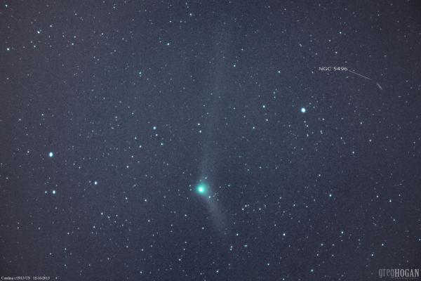 Greg Hogan caught the comet on December 16, 2015.  He wrote: