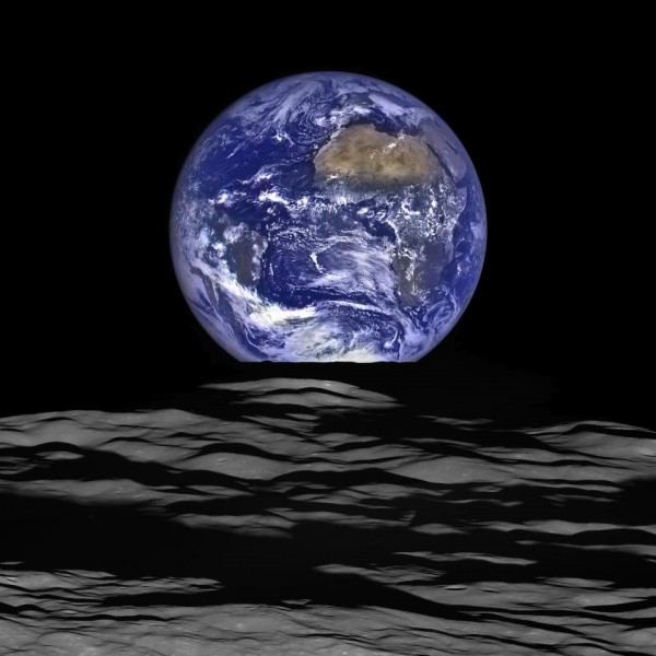 View larger. | A spectacular new image of Earth, seen from the moon, from NASA's Lunar Reconnaissance Orbiter using cameras operated by Arizona State University. Read more about this image.