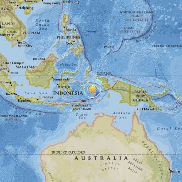 Large earthquake in the Banda Sea, December 9, 2015.