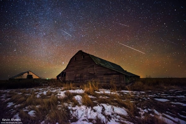 Geminids on the night of December 14, from Kev's Kaptures in eastern Colorado.