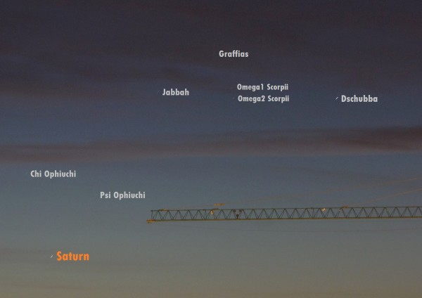 View larger. | Saturn, as captured by José Luis Ruiz Gómez on December 18, 2015. Saturn is still very near the sunrise.