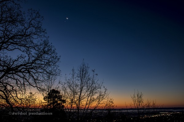Kenny Cagle posted this photo to EarthSky's community page on G+. He captured the moon and Venus on December 7 from Hot Springs, Arkansas.