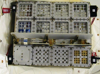 The EXPOSE-E platform, where Antarctic fungi and lichens are placed. Image credit: S. Onofri et al.
