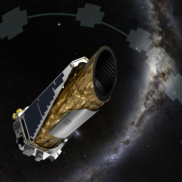 "The stalwart Kepler spacecraft now uses pressure from sunlight as a ""virtual reaction wheel"" to help control and stabilize the craft during its planet searches.  Image via NASA."