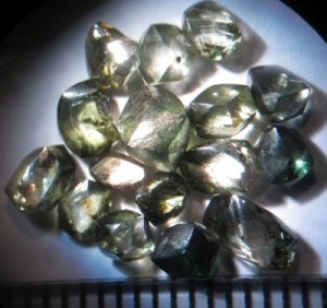 A collection of the Witwatersrand diamonds. Image credit: Wits University