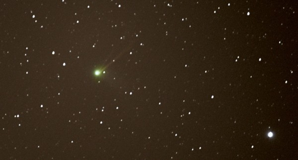 Comet Catalina on January 15, 2016, just before its closest point to Earth.  Photo by Paul Howell in Weston, Somerset, UK.