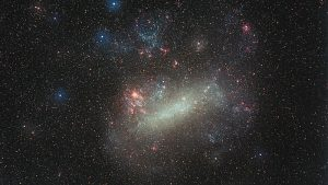 This ground-based image of the Large Magellanic Cloud was taken by German astrophotographer Eckhard Slawik. Image via ESA