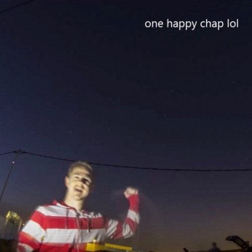 Szabolcs Nagy celebrating his capture of the ISS transit of Saturn.