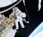 NASA astronaut Tim Kopra is seen floating during a spacewalk on December 21, 2015. Image credit: NASA