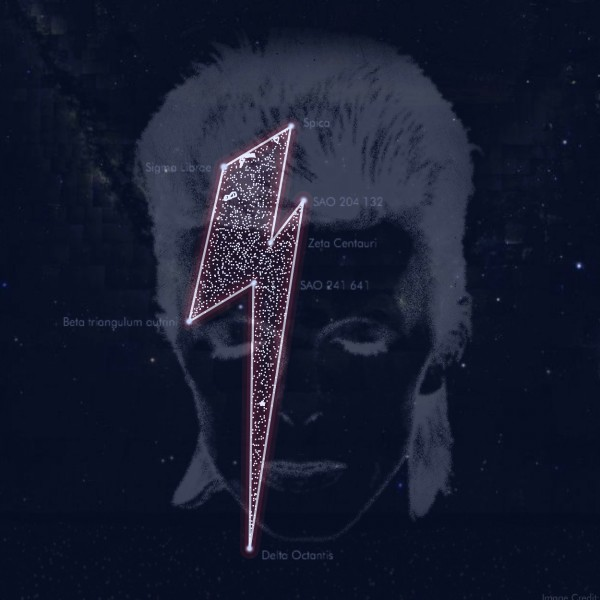 The website StardustForBowie.com says this image depicts a new constellation, named for the late, beloved rock musician.