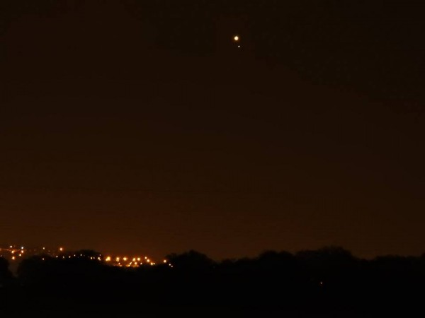 Venus and Saturn on January 9, 2016 from Eran Shacham in Tel Aviv, Israel.