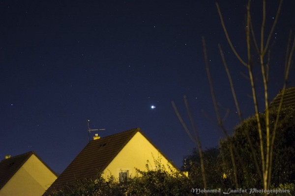 Venus and Saturn on January 9, 2016 from Mohamed Laaifat Photographies in Normandy, France.
