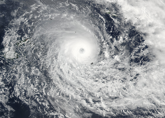 Feb. 19 at 01:15 UTC, the VIIRS instrument aboard NASA-NOAA's Suomi NPP satellite captured this visible image of Tropical Cyclone Winston in the South Pacific Ocean. Image Credit: NASA Goddard Rapid Response/NOAA