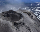 New crater near the summit at Chillán. Image credit: SERNAGEOMIN