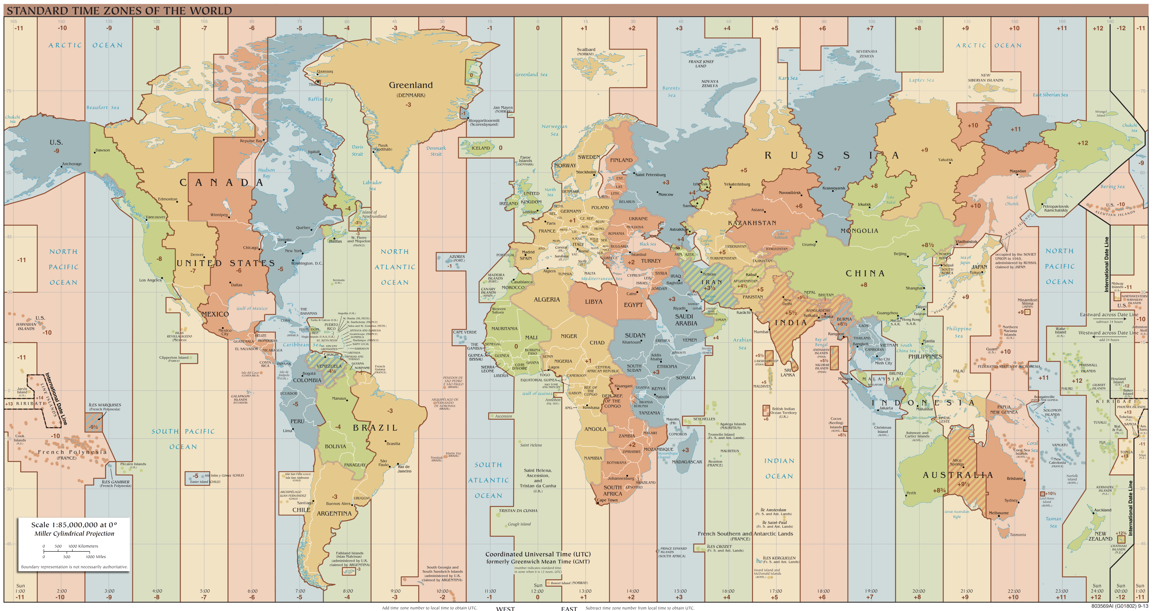 World time zones. Image credit: TimeZonesBoy, via Wikipedia Commons.