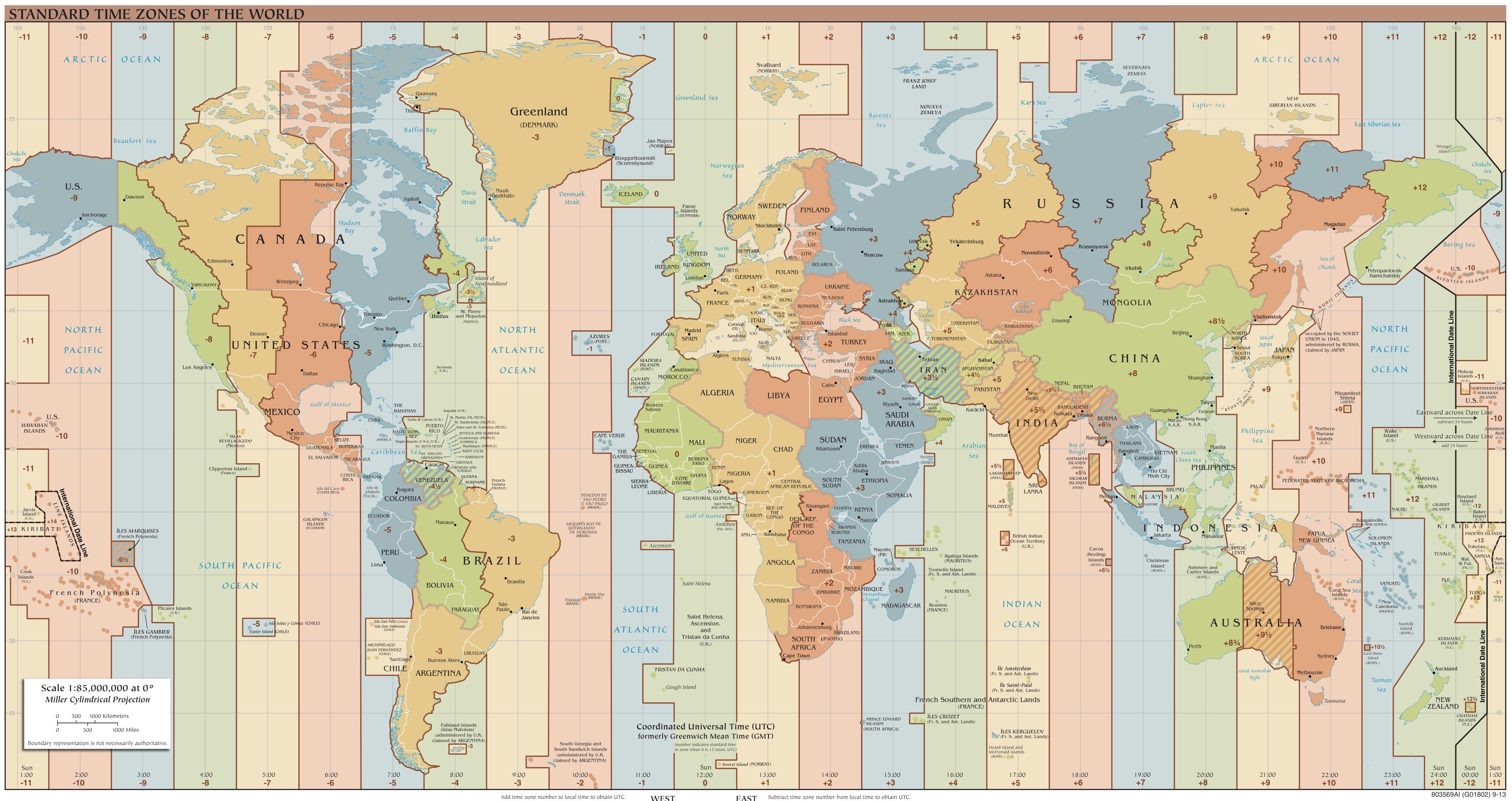 World time zones. Image credit: TimeZonesBoy, via Wikipedia Commons.