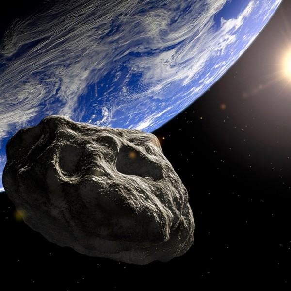 Artist's concept of an asteroid near Earth.
