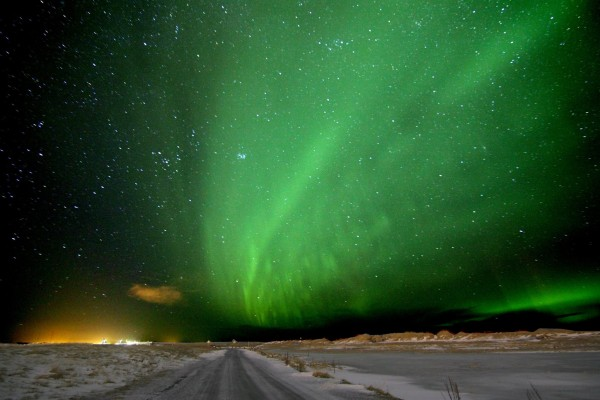 View larger. | Aurora over Iceland, from earlier this month, by Padraic Koen?.  Visit him on Facebook.
