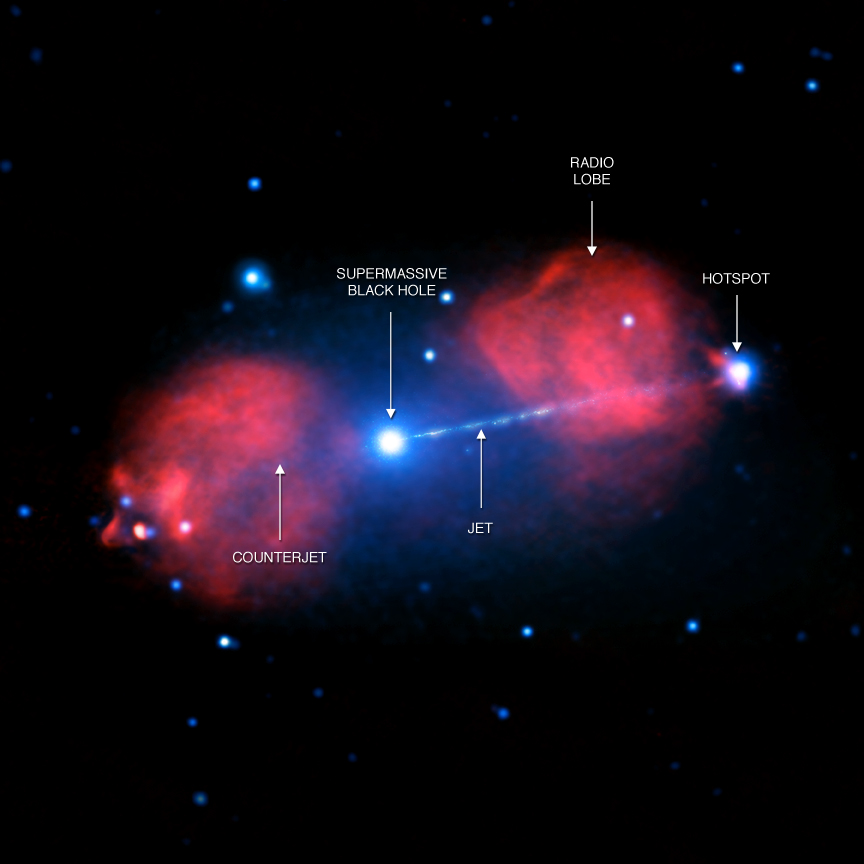New image of enormous black hole blast | Science Wire ...