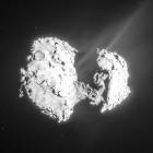 View larger.   Comet 67P/Churyumov-Gerasimenko as seen by ESA's Rosetta spacecraft