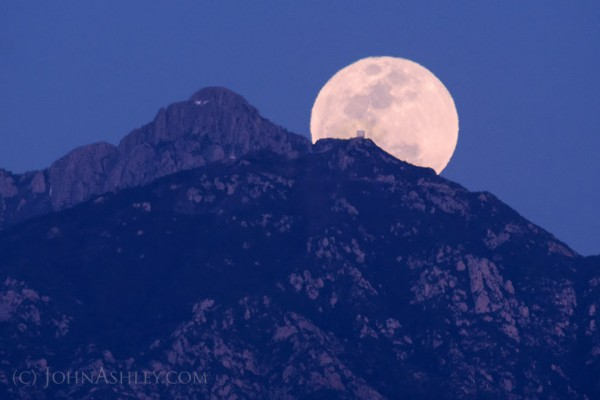 Moonrise at the MMT Observatory, by John Ashley.  Visit John Ashley Fine Art Photos.