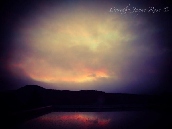 Nacreous clouds on February 2, 2016, from Dorothy Jayne Rose in the village of Contin, in the Highland region of Scotland.