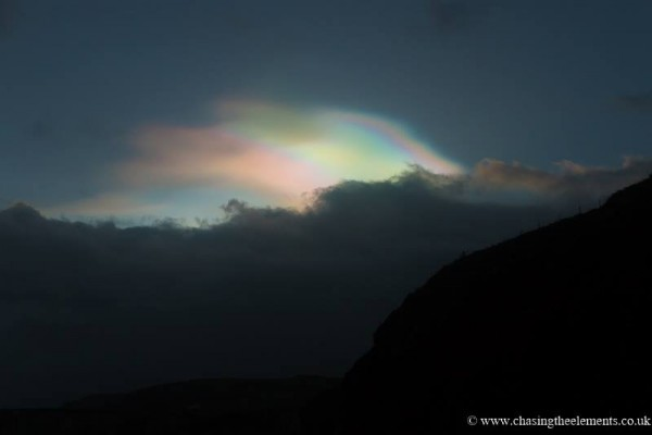 John Fagan caught these nacreous clouds over Ireland this week.