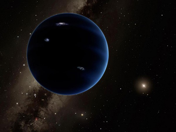 "The other current leading theory for Planet 9 is that it is actually a planet, about 10 times more massive than Earth, making it similar to ""super-Earths"" found orbiting other stars. Image Credit: Caltech/R. Hurt (IPAC)"