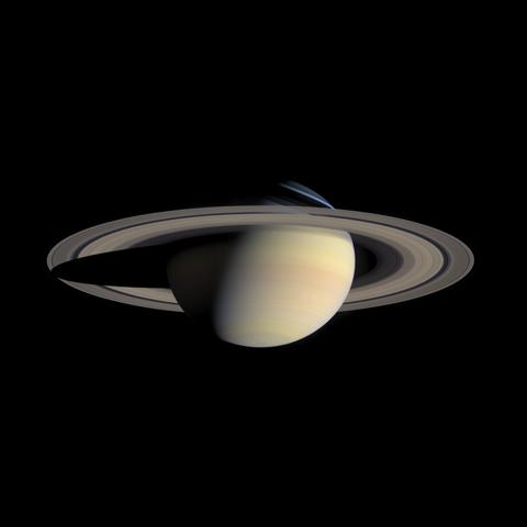 The B ring is the brightest of Saturn's rings when viewed in reflected sunlight. Image credit: NASA/JPL-Caltech/Space Science Institute