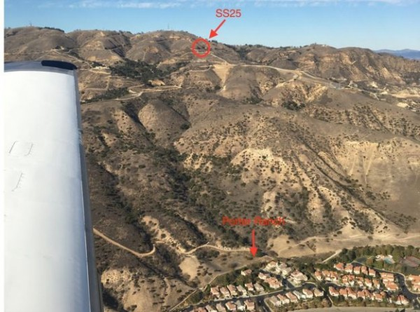 The leaking well, marked SS25 in this picture, is very close to the community of Porter Ranch. Image: Stephen Conley