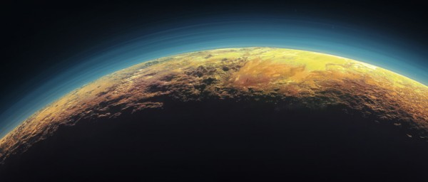 Pluto's haze is a photochemical smog. Image credit: NASA/Johns Hopkins University Applied Physics Laboratory/Southwest Research Institute