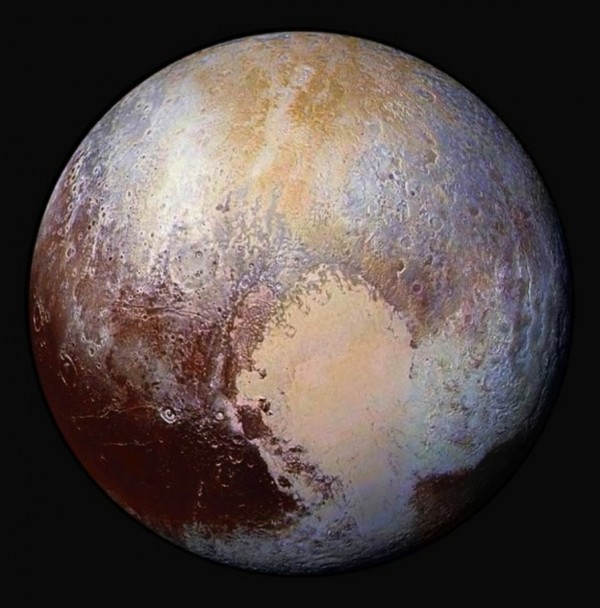Pluto's Sputnik Planum captured hearts here on Earth. Image credit: NASA/Johns Hopkins University Applied Physics Laboratory/Southwest Research Institute