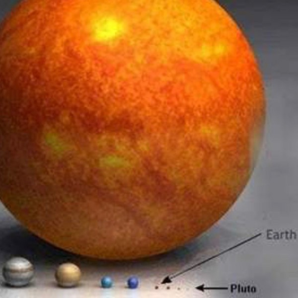 You've seen illustrations like this one, showing the relative sizes of things in space?  This one is from  www.rense.com, where you can see more like this.  Also, be sure to check out the videos below.