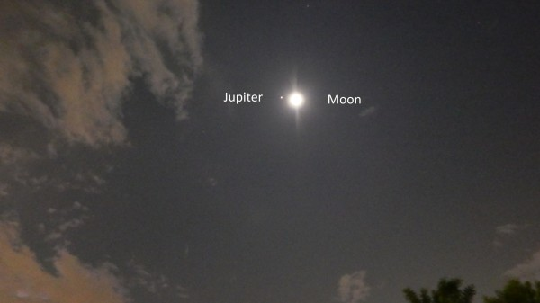 Raul Cortes in Monterrey, Mexico, captured the moon and Jupiter on the night they were closest, April 17.