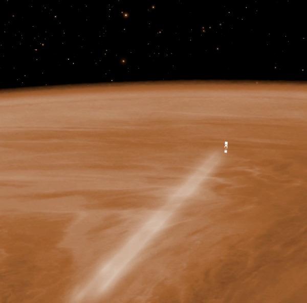 Venus Express aerobraking. Image credit: ESA - C. Carreau